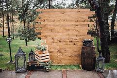 Деревенское свадебное украшение