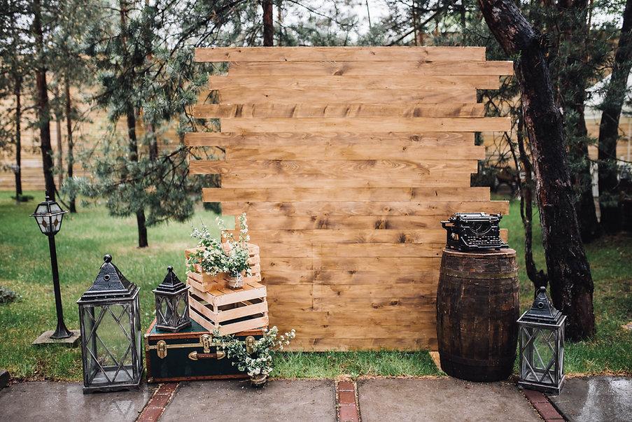 Décoration de mariage rustique