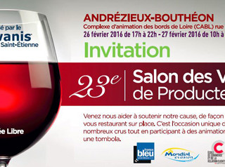 Andrézieux-Bouthéon - 26 et 27 Février 2016 - Salon des Vins de Producteurs