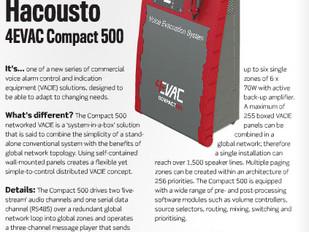 Installation - Dec. 2015 - Hacousto 4Evac Compact500