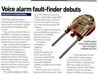 Voice alarm fault-finder debuts