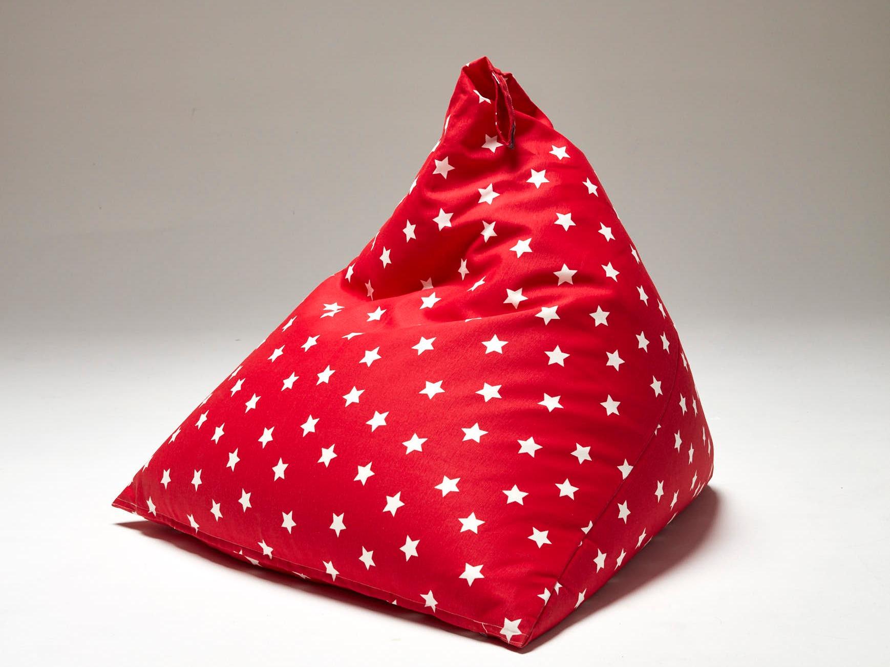 Pouf N Estrellas Rojo
