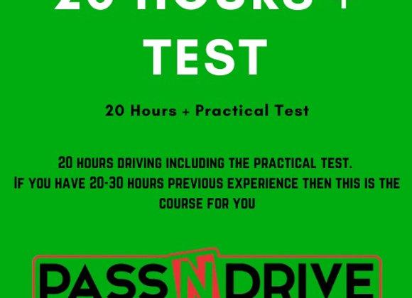 20 Hours Incl.Practical Test DEPOSIT