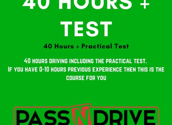 40 Hours Incl.Practical Test DEPOSIT only available from February onwards