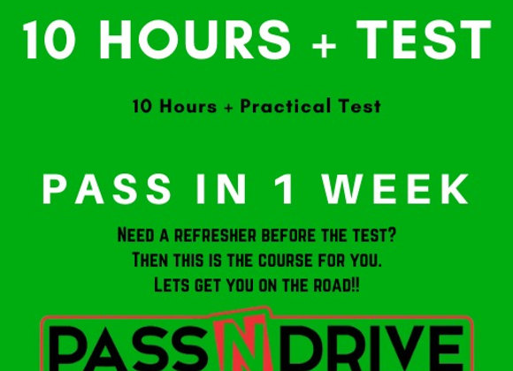 Pass in one week 10 hours incl. Practical Test DEPOSIT