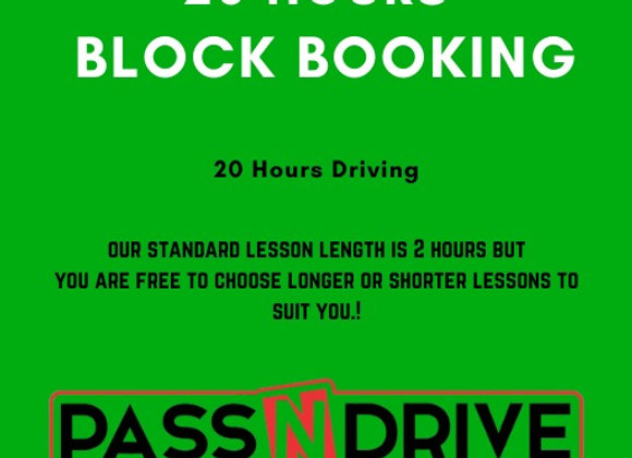 20 hours driving. Block Booking