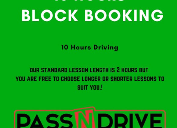 10 hours driving. Block Booking