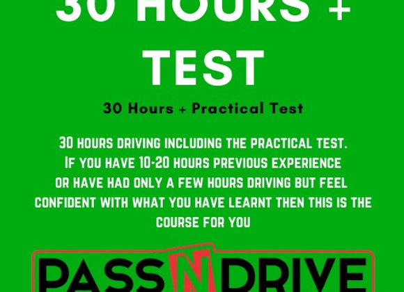 30 Hours Incl.Practical Test DEPOSIT