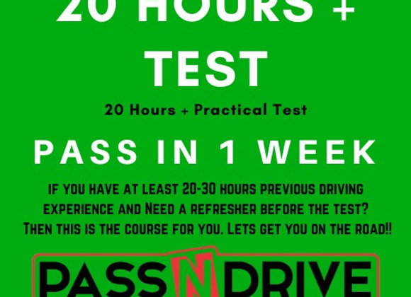 Pass in one week 20 hours incl. Practical Test  DEPOSIT