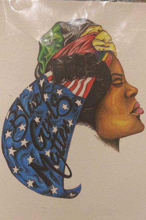 """Black Girls Matter 9"""" x 12"""" canvas"""