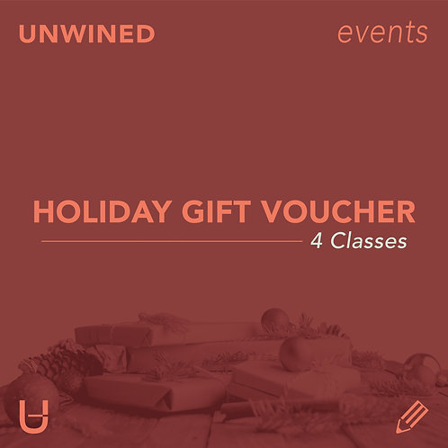 Holiday Gift Voucher | 4 Classes