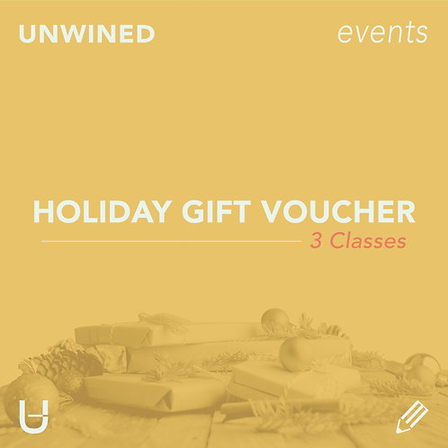 Holiday Gift Voucher | 3 Classes