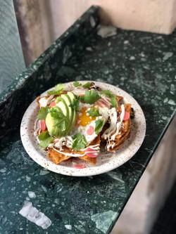 chilaquiles breakfast nachos