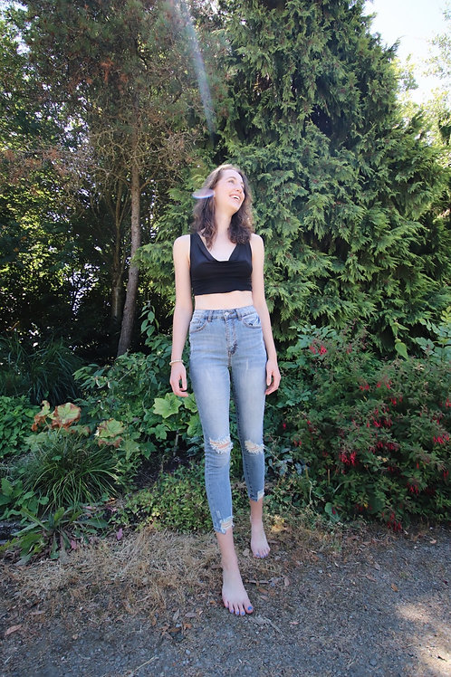Stay Around High Rise Jeans