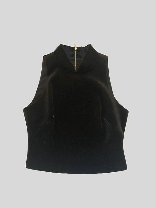 Velvet Zip Back Top