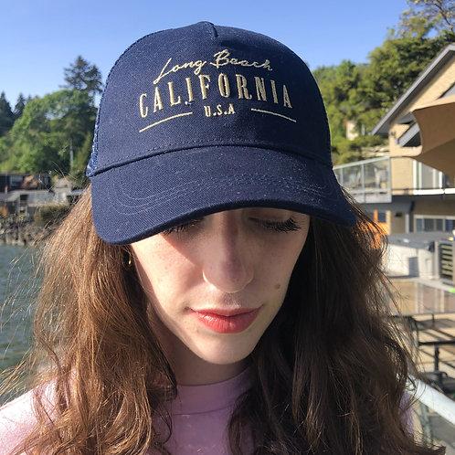 Navy Snapback Hat