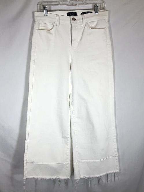 White Raw Hem Jeans