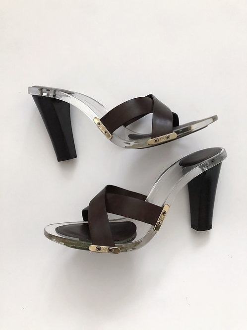 Clear Strapy Heels