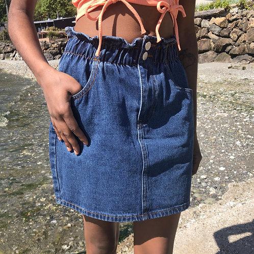 Pack It Up Denim Skirt