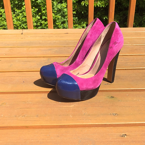 Fuchsia Platform Heels