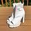 Thumbnail: White Open Toe Booties