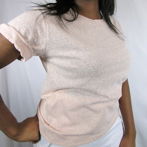 Cuffed Heathered Tee