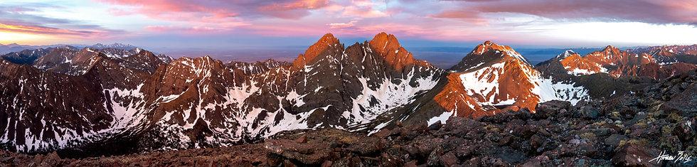 Humboldt Peak Summit Sunrise Panorama