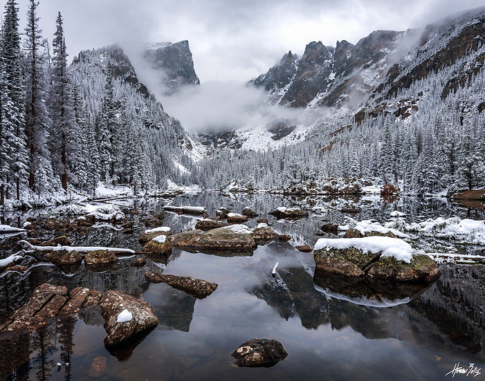 Dream Lake Sunrise - September Snow