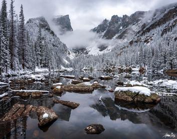 DREAM LAKE SEPTEMBER SNOW