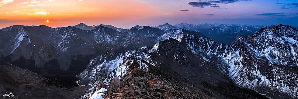Huron Peak Summit Sunrise Panorama