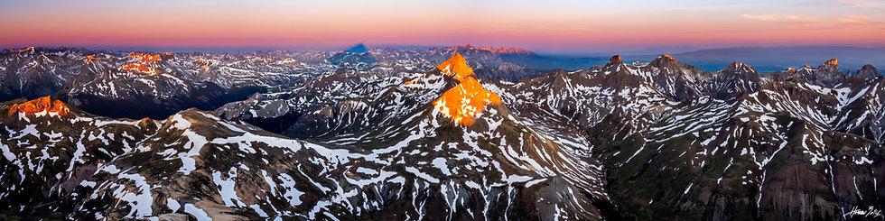 Uncompahgre Summit Sunrise Panorama