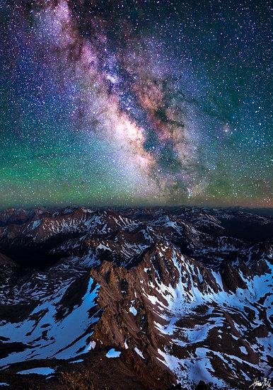 Mount Harvard Summit Milky Way