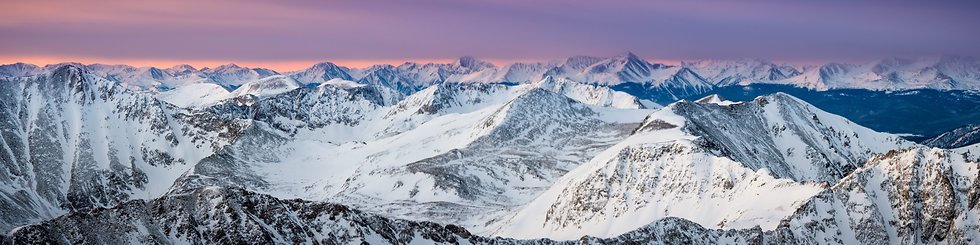 Quandary Peak Summit Sunrise Panorama