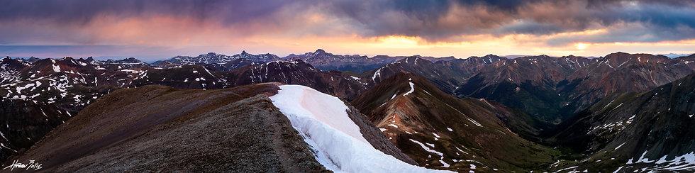 Handies Peak Summit Sunrise Panorama