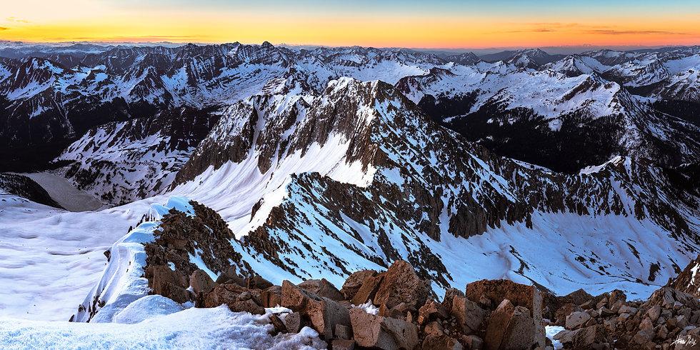Snowmass Mountain Summit Sunrise