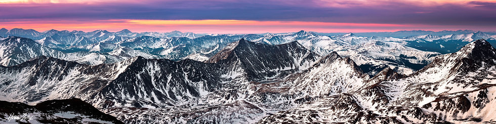 Mount Oxford Summit Sunrise Panorama