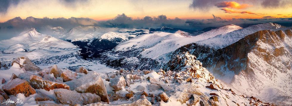 Mount Bierstadt Summit Sunrise Panorama