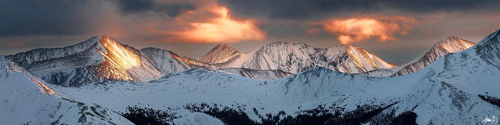 Mount Yale Near Summit Sunset