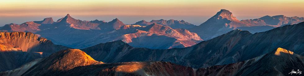 Redcloud Summit Sunrise Panorama