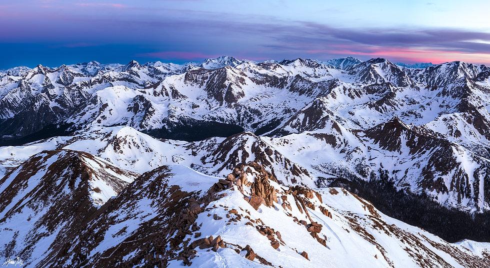Mount Yale Summit Sunrise