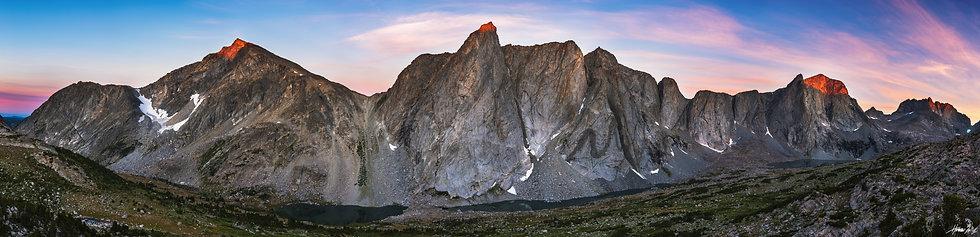 Desolation Valley Summit Sunrise Panorama
