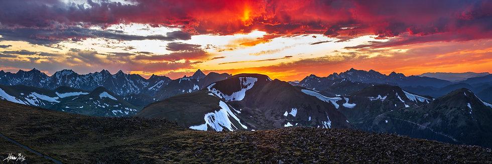 Rock Cut Sunset Panorama