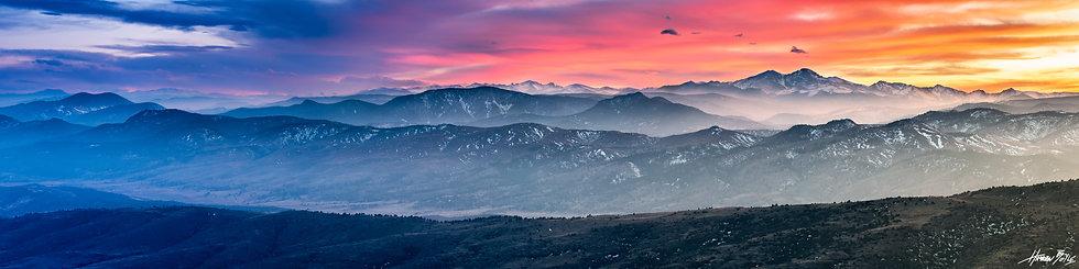 Horsetooth Rock Summit Sunset