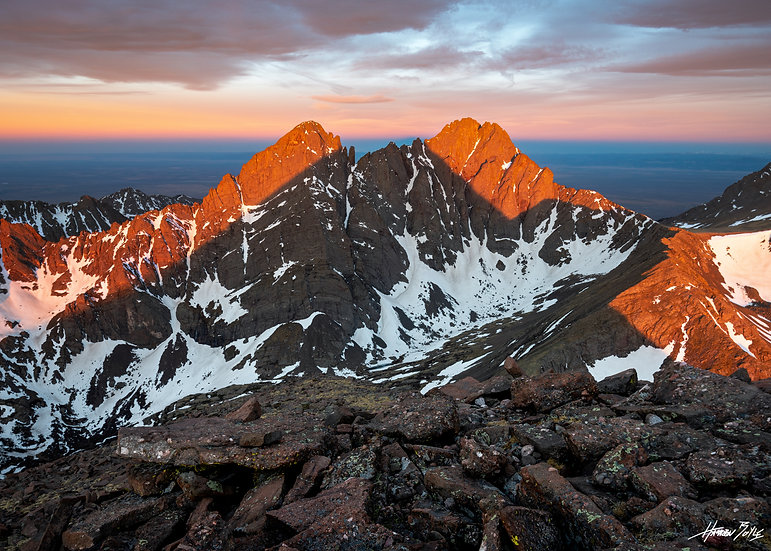 Humboldt Peak Summit Sunrise Shadow