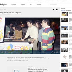 Sotheby's - Play Pinball with the Simpsons (Video)