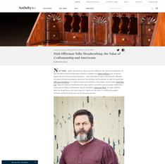 Sotheby's - Nick Offerman Talks Woodworking