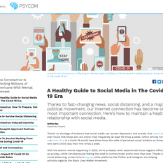 Psycom - A Healthy Guide to Social Media in The Covid-19 Era