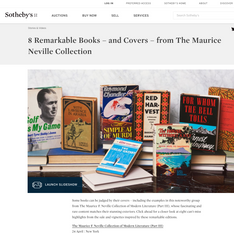 Sotheby's - 8 Remarkable Books and Covers from the Maurice Neville Collection