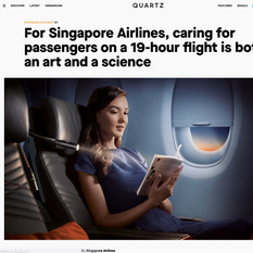Quartz x SIA - Caring for Passengers on a 19-Hour Flight Is Both an Art and a Science