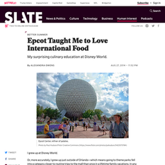 Slate - Epcot Taught Me to Love International Food
